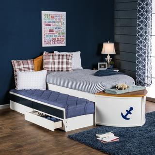 kids trundle beds furniture of america capitaine boat twin bed with trundle and storage VKPBGVD