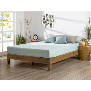 king size bed frames priage rustic oak solid wood deluxe platform bed VEJYRQI