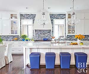 kitchen backsplash ideas 17 kitchens with scene-stealing backsplashes NQYVBRM