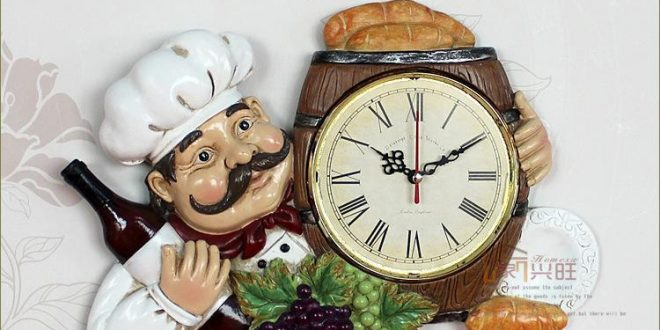 Kitchen Clocks Personalized Restaurant Resin Vintage Wall Clock Large Office  Wall Clocks XBTQFPO