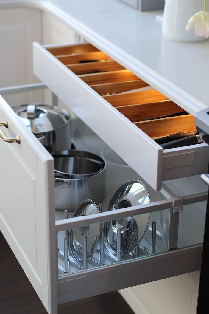 kitchen drawers fabulous kitchen boasts a lit cutlery drawer stacked over a pot and pan EBNEUQT
