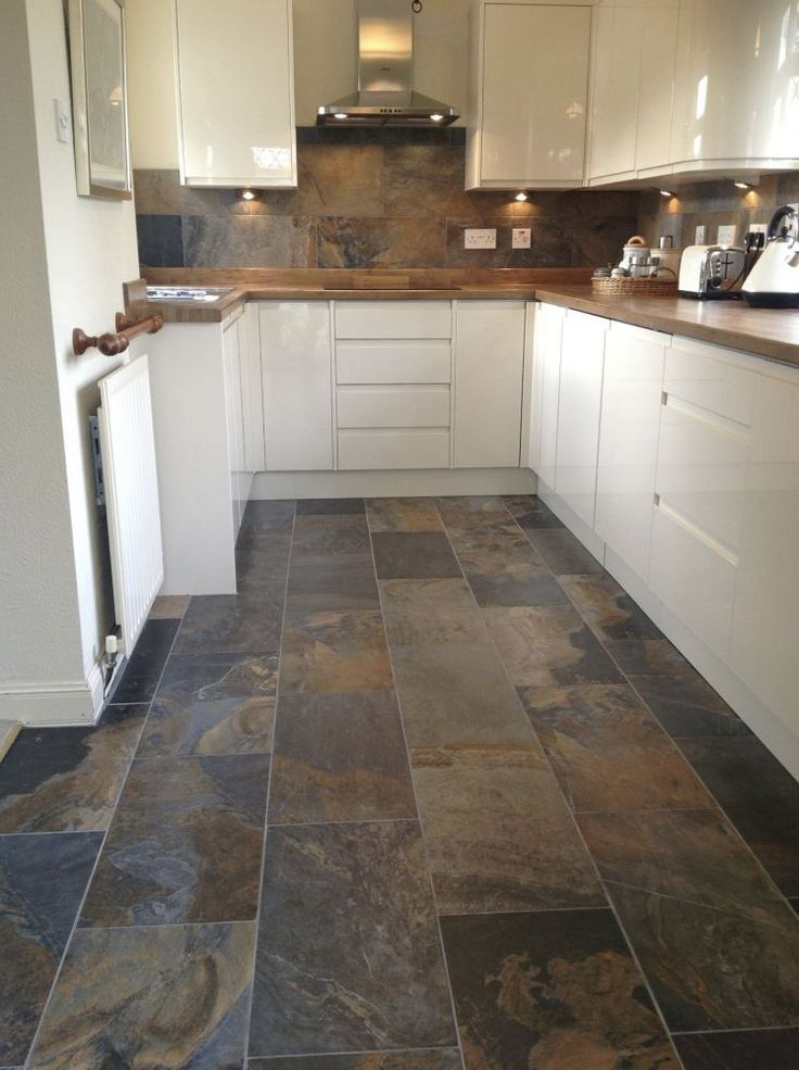kitchen floor tile best 20+ slate floor tile kitchen ideas BEUJTPD