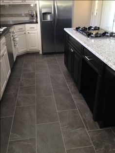 kitchen floor tile best 20+ slate floor tile kitchen ideas OQLWBAH