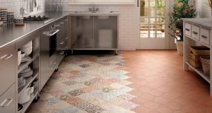kitchen floor tile ... view in gallery arabesque tile kitchen floor patchwork equipe 4jpg  amazing VTSQAJM