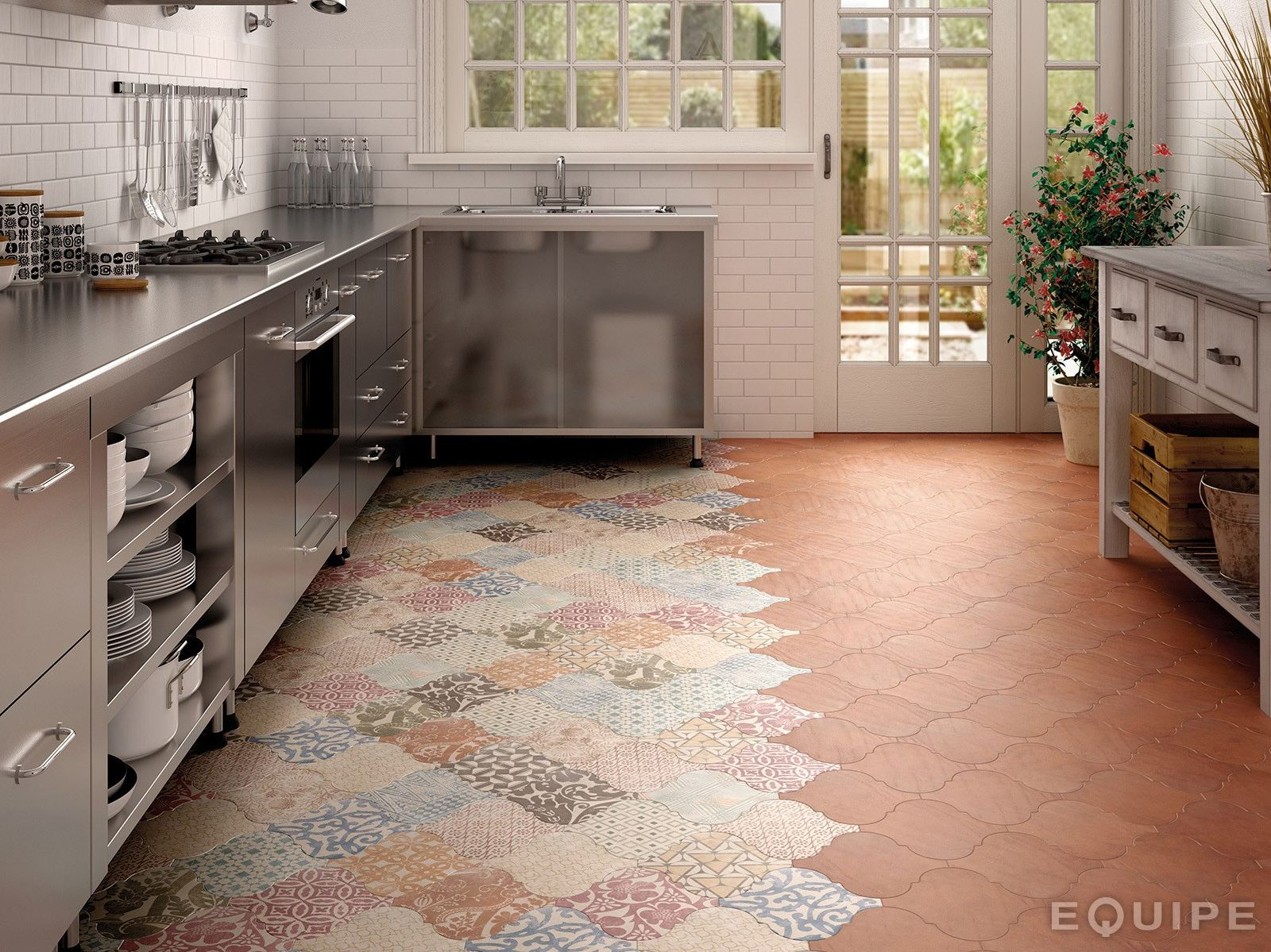 Sensible choice kitchen floor tiles for classy finish kitchen floor tile view in gallery arabesque tile kitchen floor patchwork equipe 4jpg dailygadgetfo Gallery