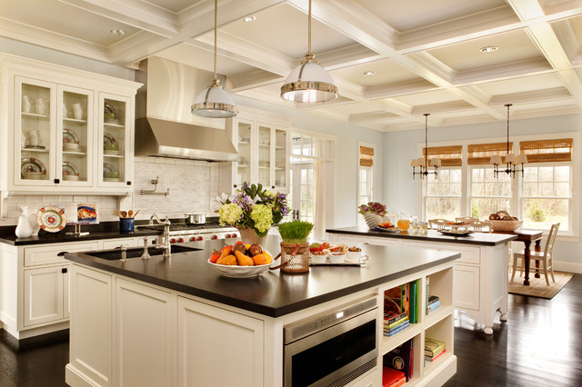 kitchen island design traditional kitchen by garrison hullinger interior design inc. FPMSZVK