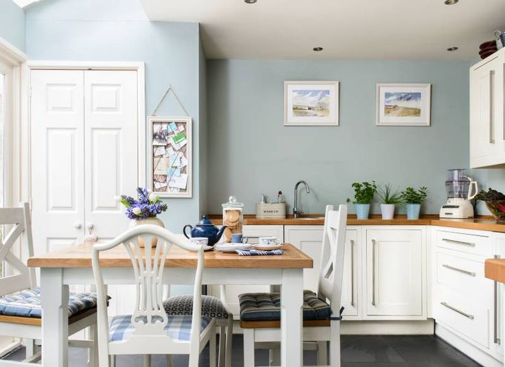 kitchen paint duck egg blue kitchen with white cabinets KEIFLVQ