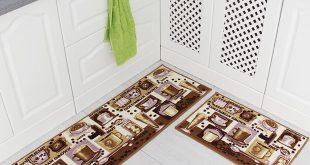 kitchen rug amazon.com : carvapet 2 piece non-slip kitchen mat rubber backing doormat  runner YLQAWJY