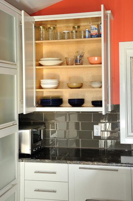 kitchen wall cabinets frameless wall cabinet open contemporary-kitchen ZCVXYPZ