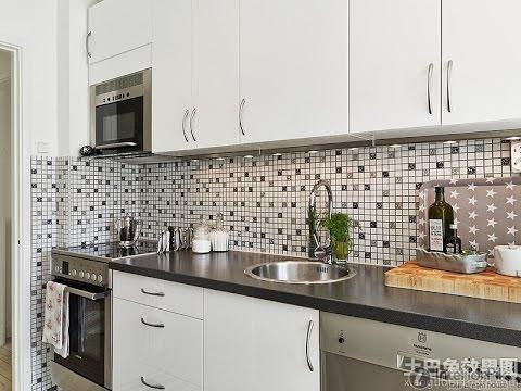 kitchen wall tiles for black worktop ideas MLXQXYO