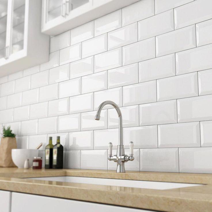 kitchen wall tiles victoria metro wall tiles - gloss white - 20 x 10cm DGPDIVJ