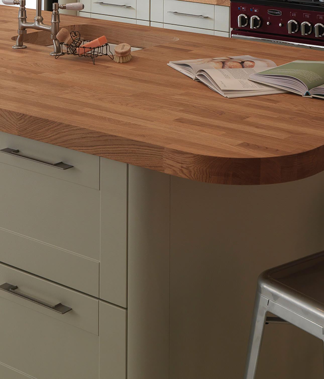 kitchen worktop magnet bespoke solid wood worktop KXYTGOA