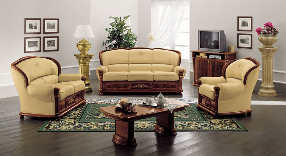 klassica classic italian leather sofa set KWBYYHE