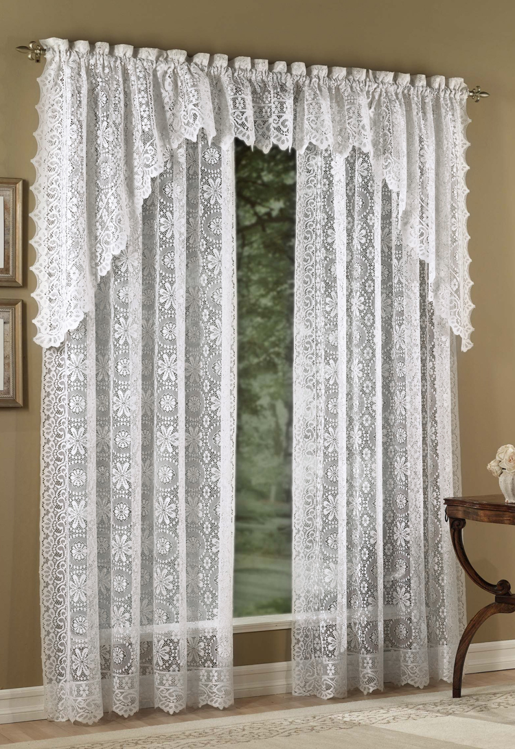 lace curtains hopewell lace curtain - white PNHDOFH