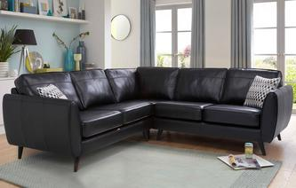 leather corner sofa aurora leather 2+2 corner group brooke HFCYYPI