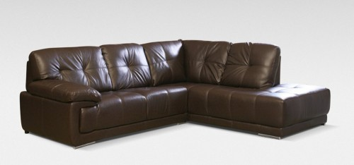 leather corner sofa maxim corner rhf brown DVFTHXL