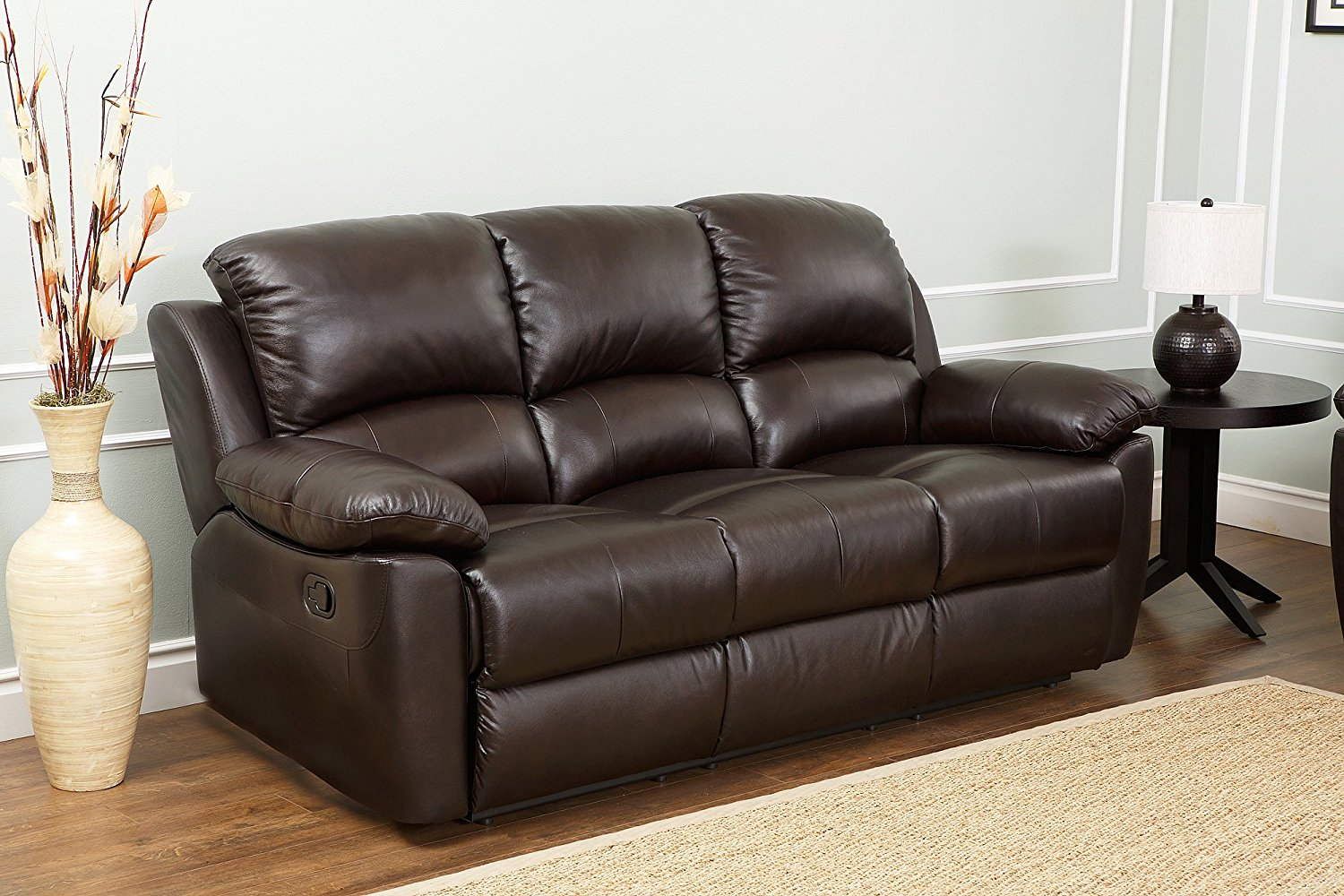 leather reclining sofa amazon.com: abbyson westwood top grain leather sofa: home u0026 kitchen CMPEJRA