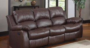 leather reclining sofa amazon.com: bonded leather double recliner sofa living room reclining couch  (brown): kitchen WBLTIKJ