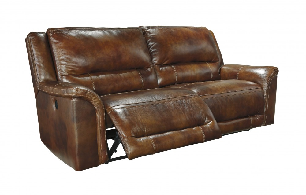 leather reclining sofa jayron - harness - 2 seat reclining sofa ZYTMKDT