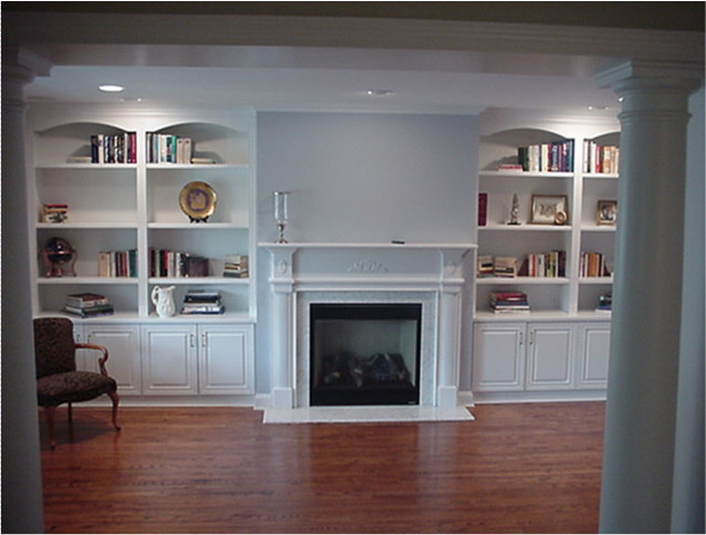 living room cabinets custom wall units traditional-living-room JNFIHOM