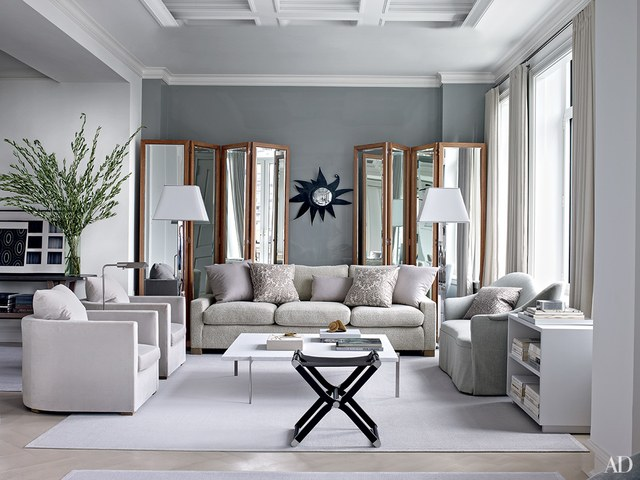 living rooms ideas in this manhattan apartment designed by shelton, mindel - assoc.,  bespoke folding YZFWGFO