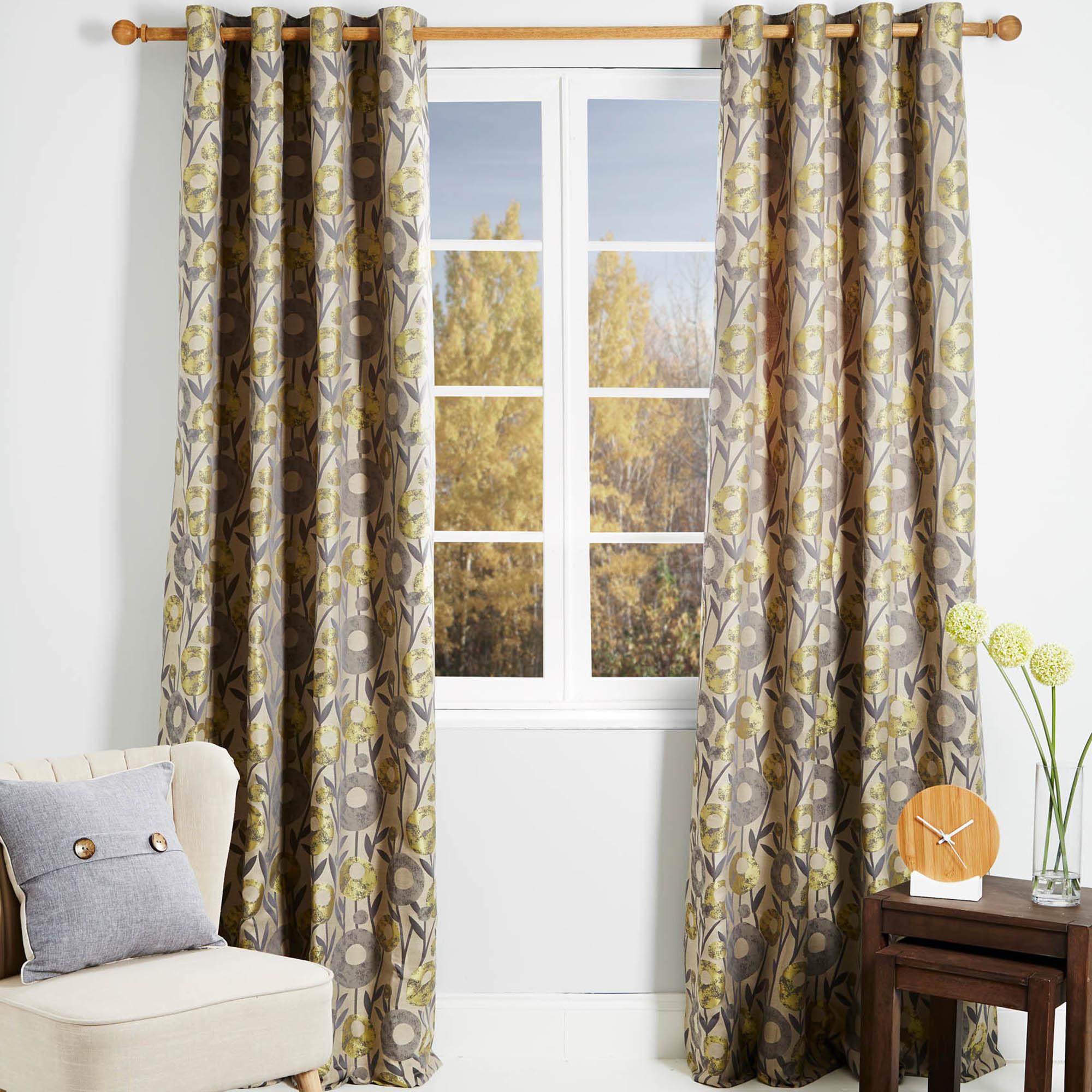 livorno yellow lined eyelet curtains. loz_new_web_exclusive MIHFYSD
