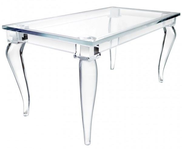 magic design of alexandra von furstenbergu0027s acrylic furniture LUCEYLU