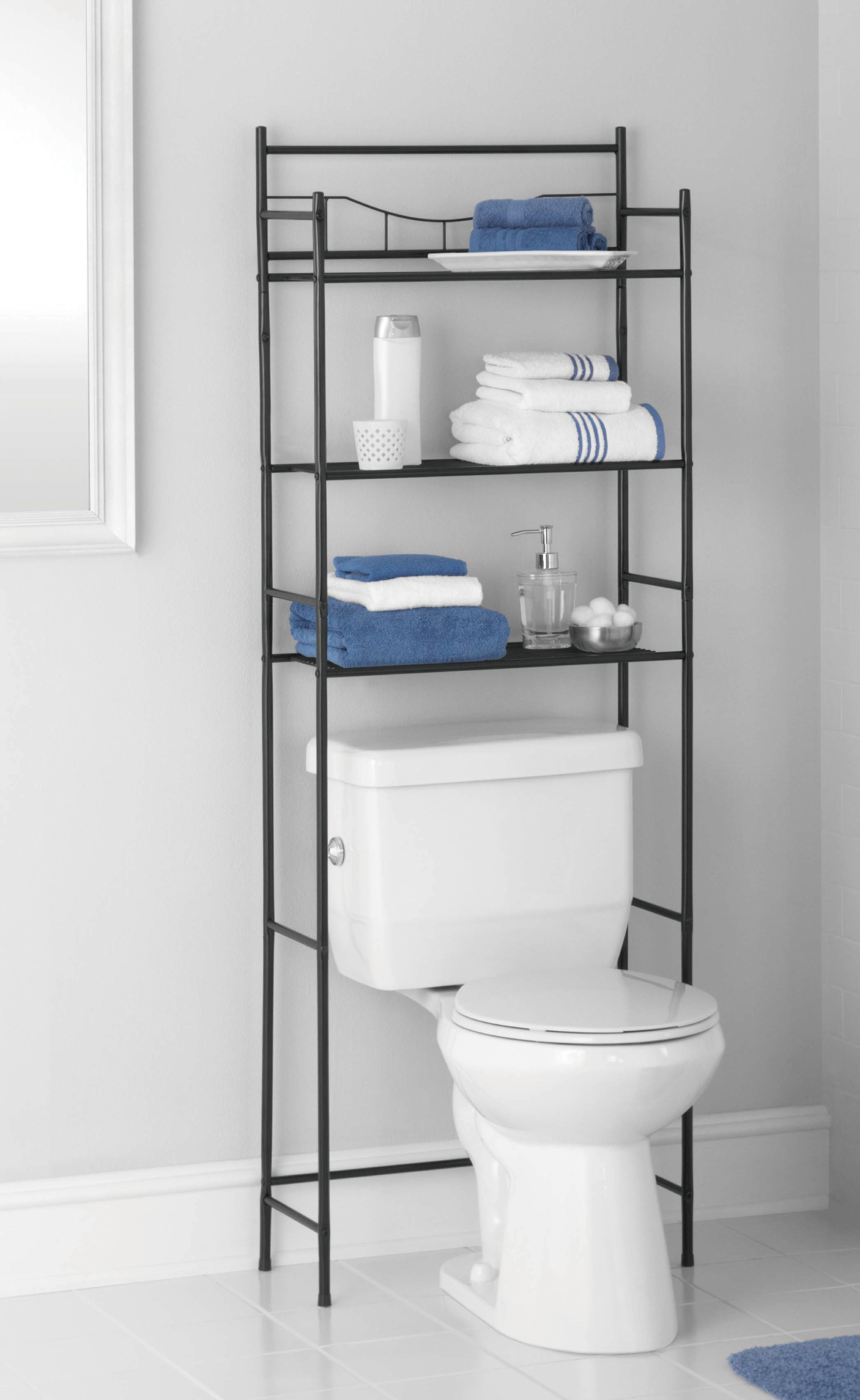 mainstays 3-shelf bathroom space saver, oil-rubbed bronze finish PURGIOJ