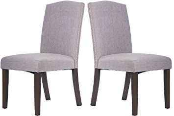 merax fabric dining chairs set of 2 with solid wood legs dining room HDMSLLZ