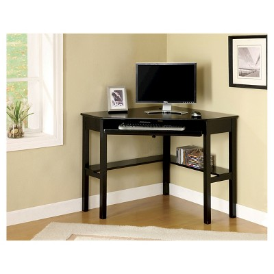 mibasics erona modern corner computer desk black HQLLALW