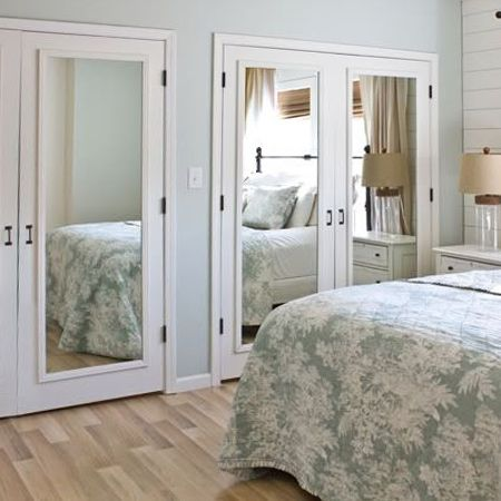 mirrored closet doors create a new look for your room with these closet door ideas. DIARGLN