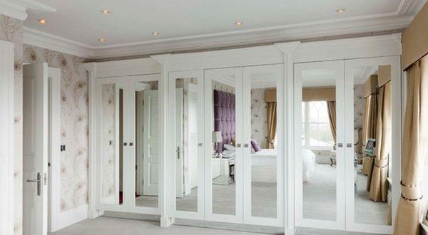 Interior Mirrored Doors Shop Reliabilt Mirror Steel Bi Fold Closet