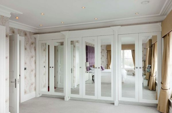 Mirrored Closet Doors View In Gallery White Is A Perfect Choice For Closets  With Mirrored Doors
