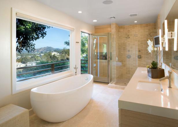modern bathroom design contemporary bathroom features freestanding tub u0026 shower for two XKVLRJU