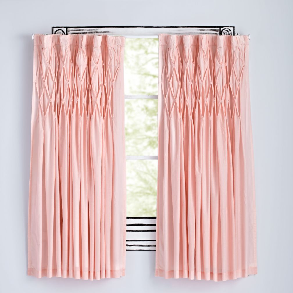 modern chic pink curtains | the land of nod ZDYDTLG