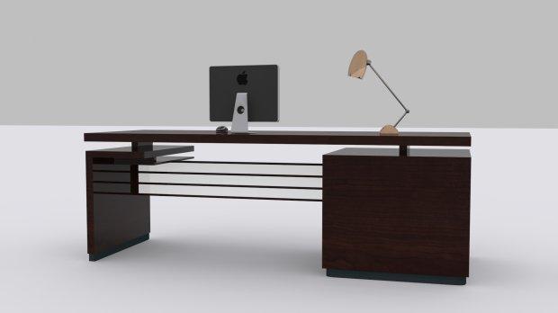 modern desk 3d model free XAIGUHI
