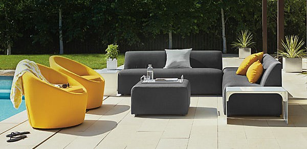 modern outdoor furniture modern of colorful patio furniture craigslist near white table on tile  flooring UTVPGWW