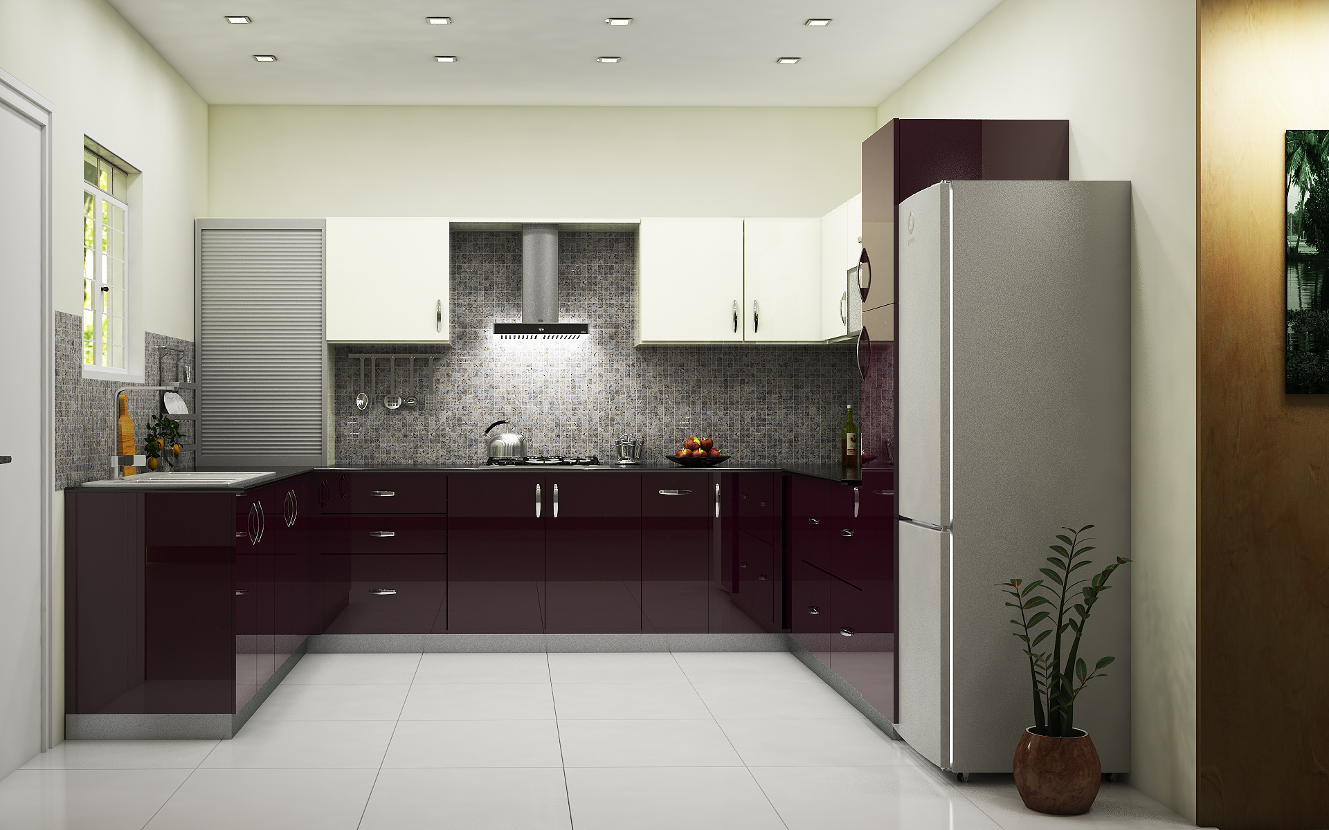 For beautiful and designer kitchen select modular kitchen for Kitchen trolley designs for small kitchens