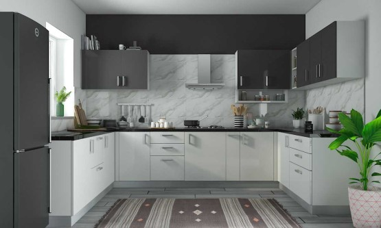 modular kitchen designs spoonbill u shape kitchen CSKJIZV