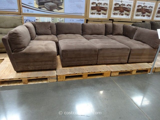 modular sectional sofa marks and cohen hayden 8-piece modular fabric sectional costco 7 - want for TTIALHQ