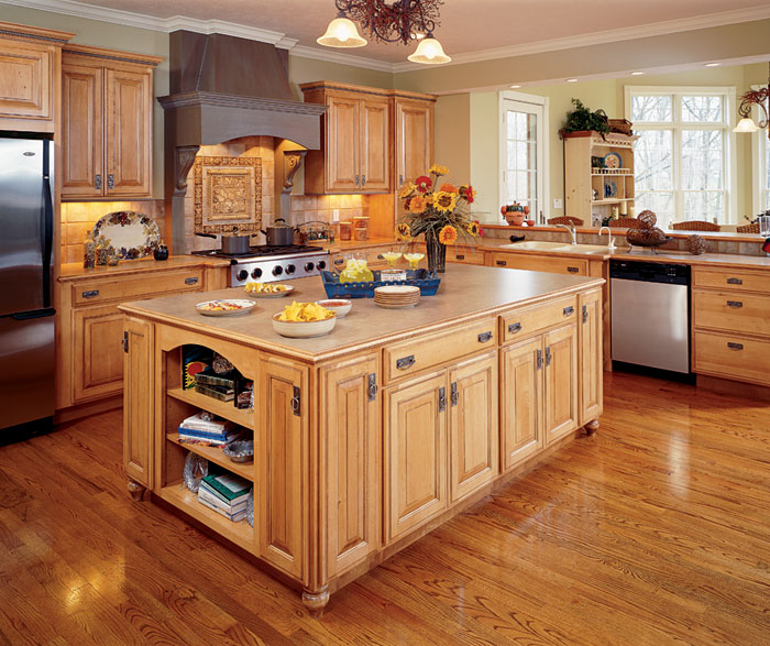 natural maple kitchen cabinets by decora cabinetry ... JXDJIDV