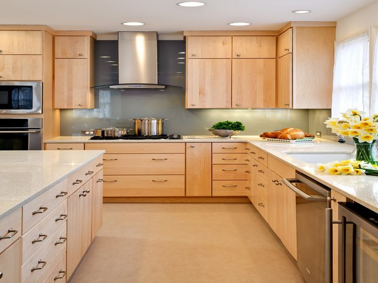 natural maple kitchen cabinets WTIGVGU