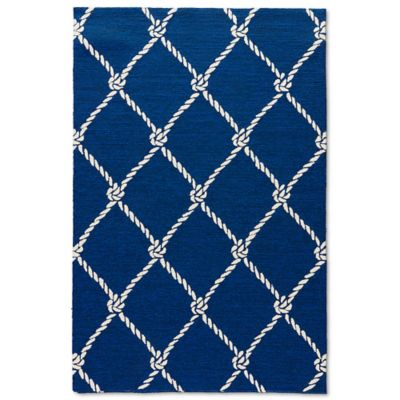 nautical rugs jaipur coastal lagoon fish net 7-foot 6-inch x 9-foot 6 HAFHDAV