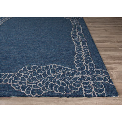 nautical rugs nautical rope bordered indoor-outdoor rug HNEBHUE