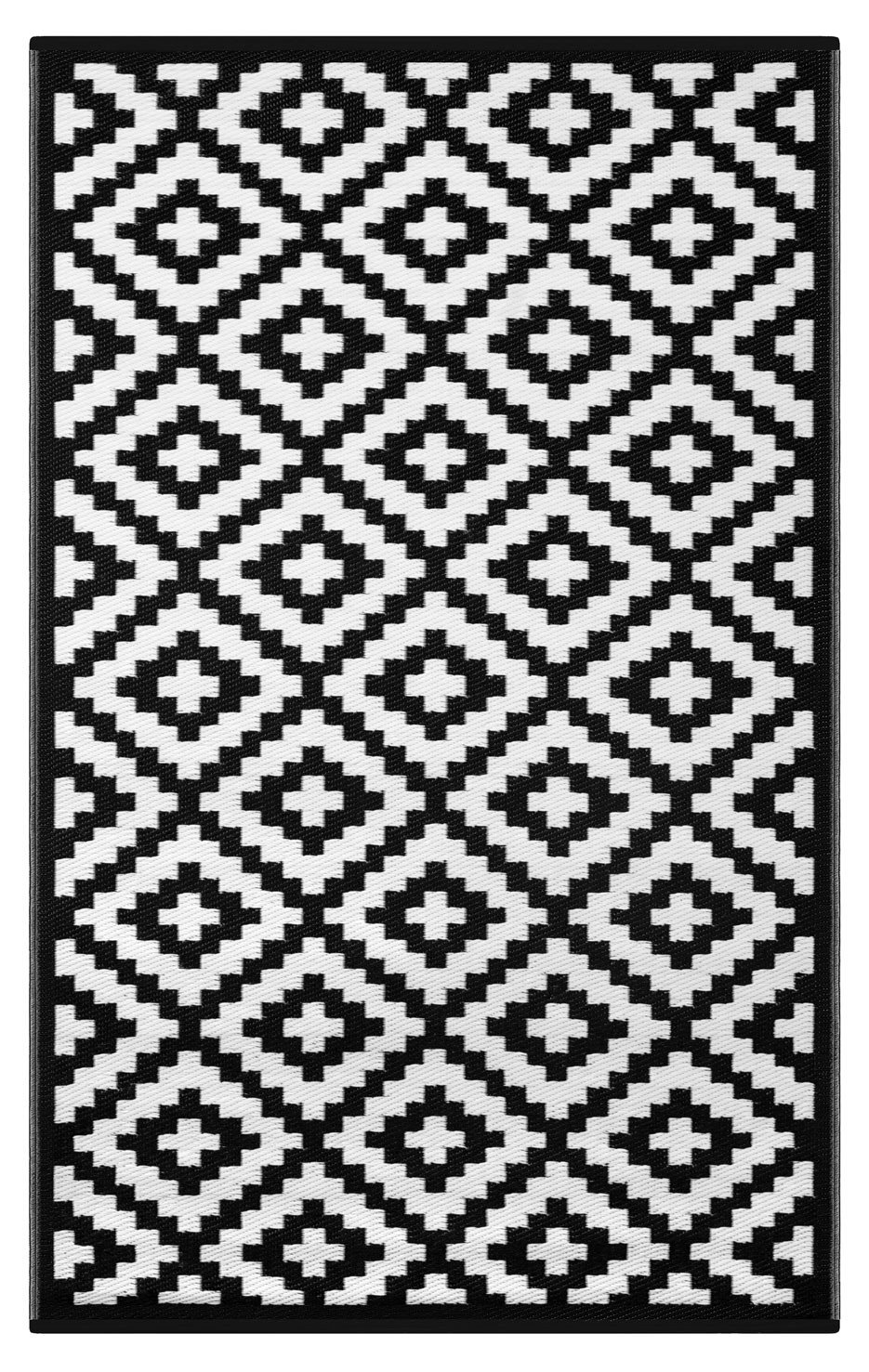 nirvana black and white rug XCBTAIT