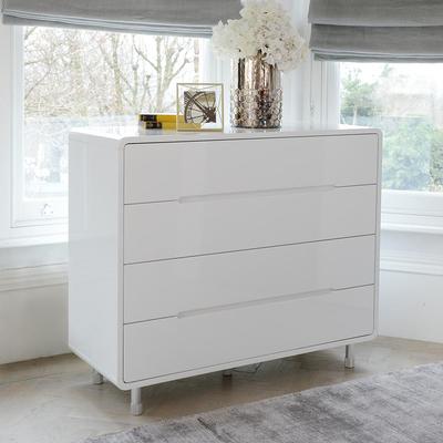 notch wide chest of drawers white SHELRYU