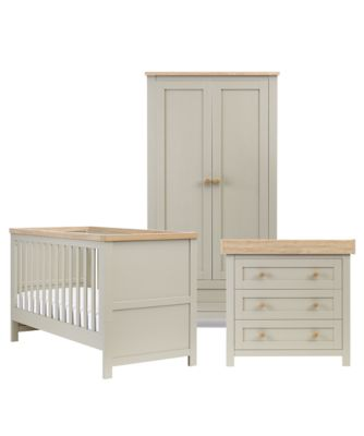 nursery furniture sets mothercare lulworth 3 piece nursery furniture set - grey DBUMGLI
