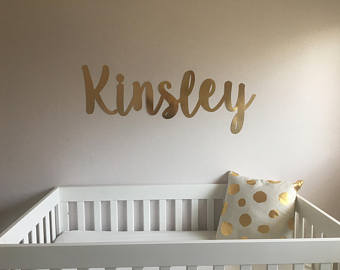 nursery name- wall letters- wall name sign-custom name sign-wall decal BDZRLOA