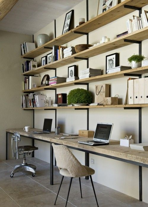 office space as an extension of a wall shelving unit vs. my feng VOUKOHR