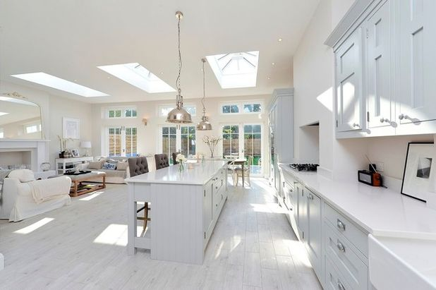open plan kitchen transitional kitchen by pva developments HHGCWSR